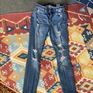 Abercrombie ripped denim jeans